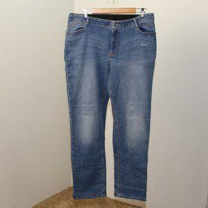 Catherines Zip w/Elastic Straight Leg Jeans 18W